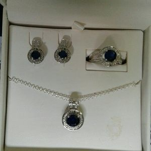 Rings with neckales & earrings set